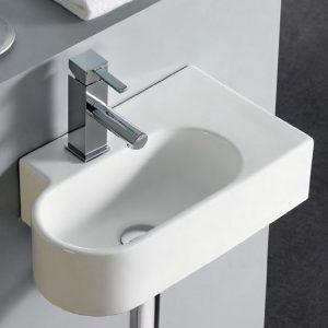 sanitarios lavabos curvos